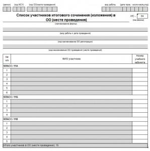 Сборник отчетных форм